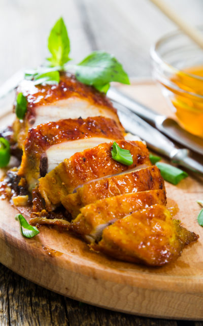 Spicy Peach Glazed Chicken