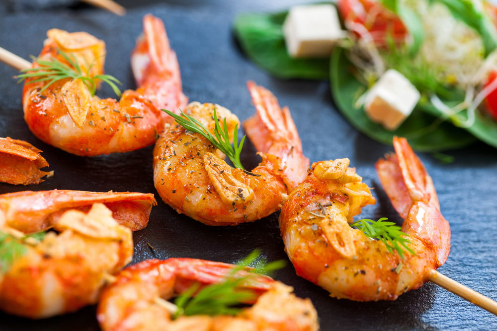 Spicy Garlic Lime Shrimp Skewers